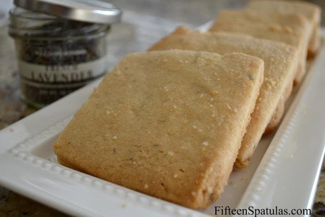 Lavender Shortbread Cookies » Fifteen Spatulas