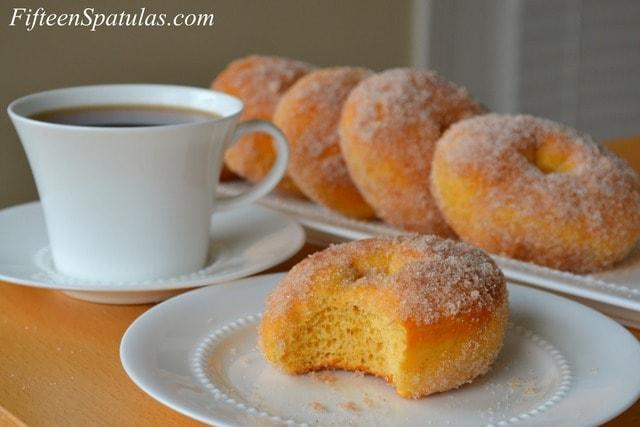 Cinnamon Sugar Tossed Sweet Potato Doughnuts – Fifteen Spatulas