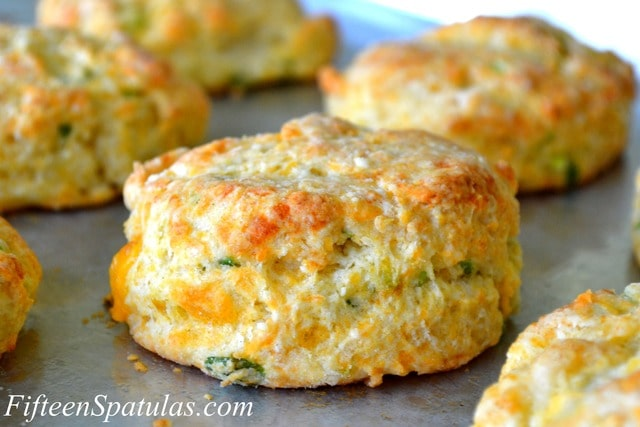Cheddar Scallion Biscuits (and how to make biscuits fluffy ...