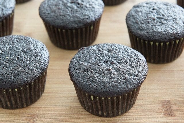 Super dark chocolate cupcakes