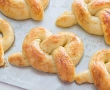 Homemade Soft Pretzels are easy to make and taste incredible baked fresh in your oven!