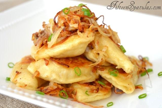 Crispy Fried Pierogies with Caramelized Onions – Fifteen Spatulas