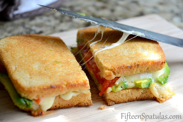 Grilled Cheese with Avocado and Heirloom Tomato – Fifteen Spatulas
