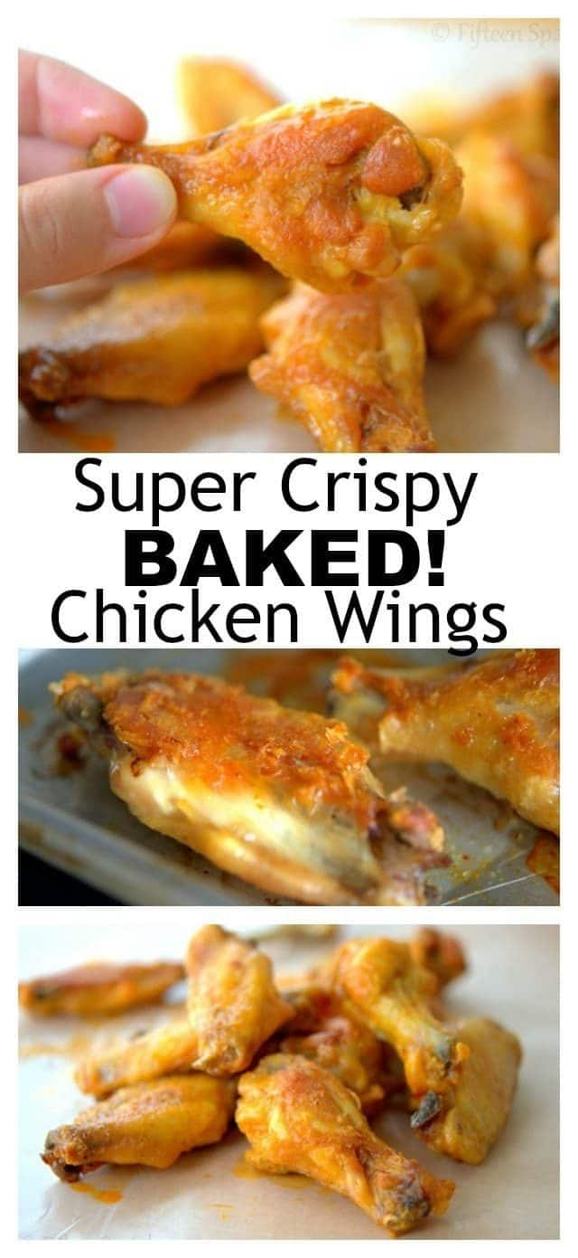 The Best EVER Crispy Baked Chicken Wings!
