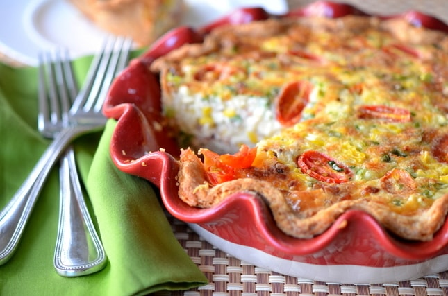 crustless corn and bacon pie slender kitchen corn and bacon pie ...