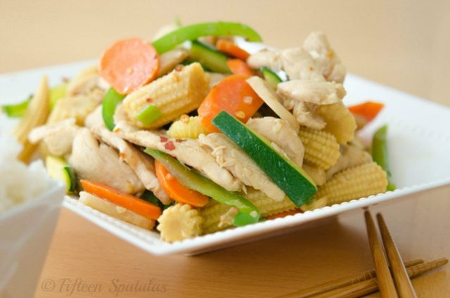 fresh veggie and chicken stir fry recipe