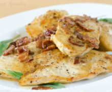 Sauteed Chicken with Sage and Mustard Cream Sauce