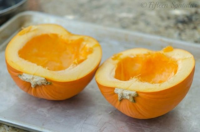 how to roast fresh sugar pumpkin for puree