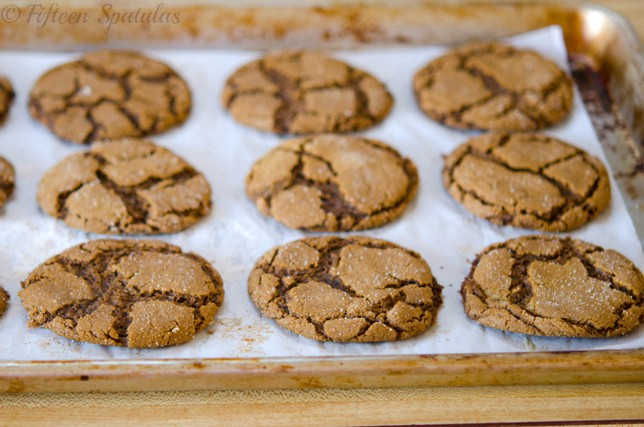 Crinkled Ginger Molasses Cookies
