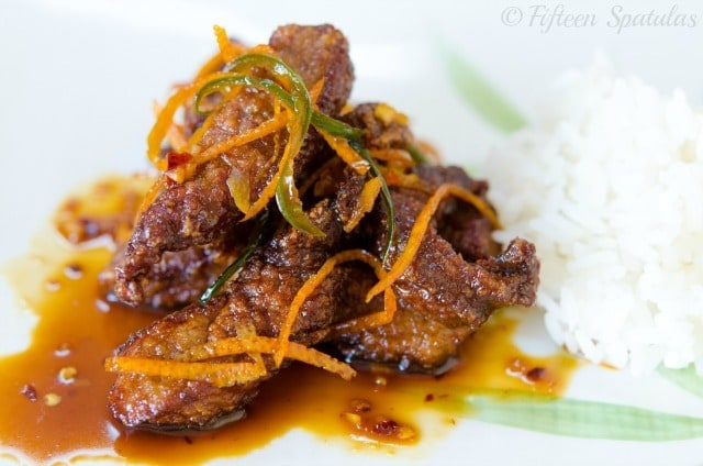 Chinese Food Crispy Orange Beef