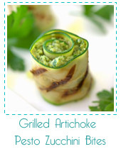grilled artichoke zucchini bites