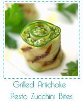 grilled artichoke zucchini bites