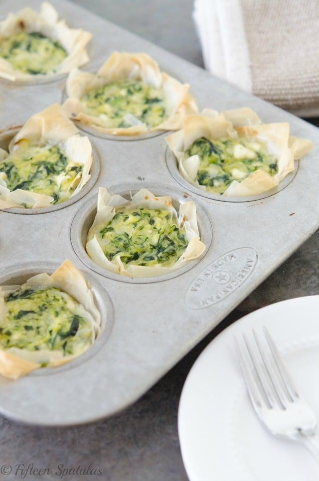Zucchini Feta Phyllo Cups