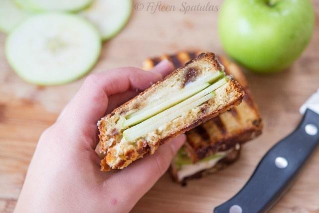 Apple Pie Panini @fifteenspatulas