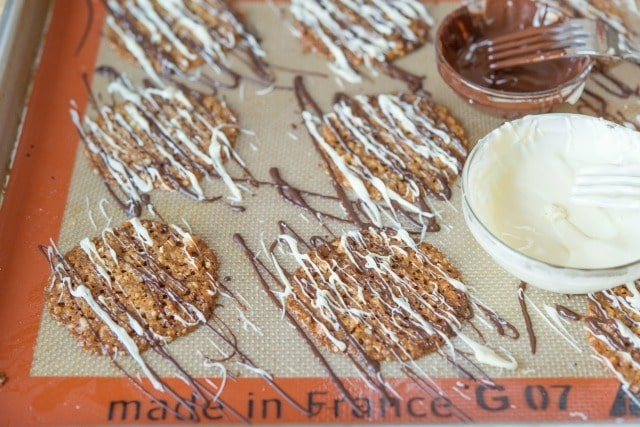 Florentine Lace Cookies Chocolate Drizzle Recipe