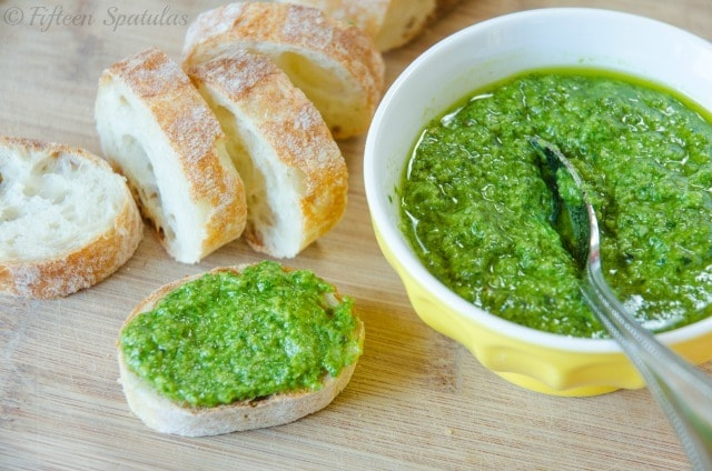 make pesto so much that my husband gets tired of it. And it's PESTO ...