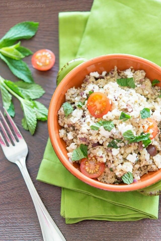 Chia Seed Quinoa Salad Recipe @fifteenspatulas