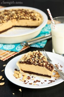 Peanut Butter and Mississippi Mud Fudge Pie
