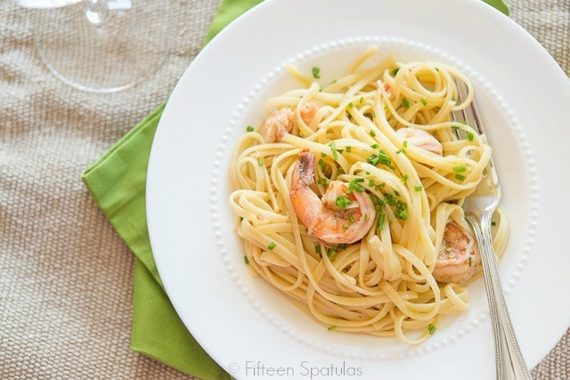Shrimp Linguine In A Tomato And White Wine Sauce Recipes ...