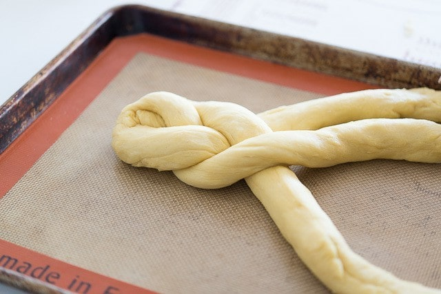 These bread braids are fluffy, soft, and light, and super easy to make. Like a cross between brioche and challah bread, this recipe is great for french toast.