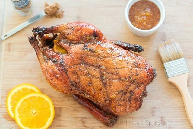 Easy Five-spice Orange Glazed Duck - If you can roast a chicken, you can make this duck! Easy recipe for weeknight dinner or for entertaining.