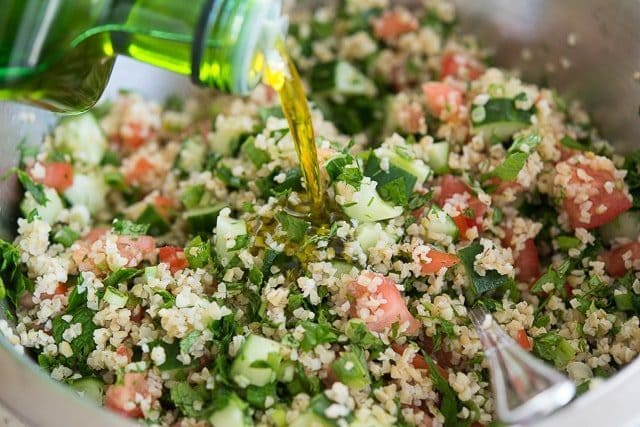 Easy Tabbouleh Recipe - Fresh and healthy with cucumbers, tomatoes, and herbs