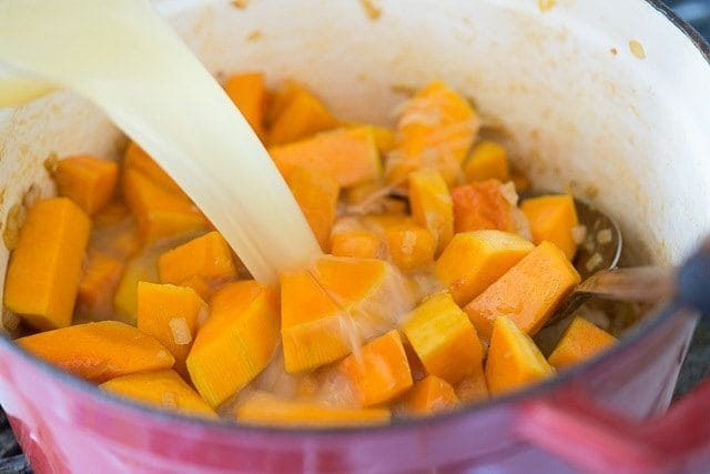 Butternut Squash Soup Recipe - Thick and delicious, and it isn't loaded up with heavy cream