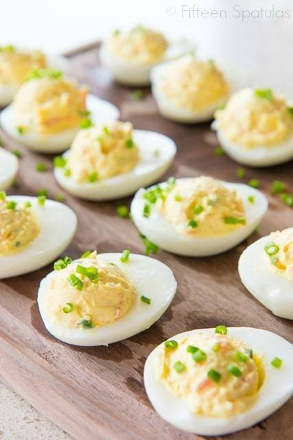Smoked Salmon Deviled Eggs always disappear in a flash when I bring ...