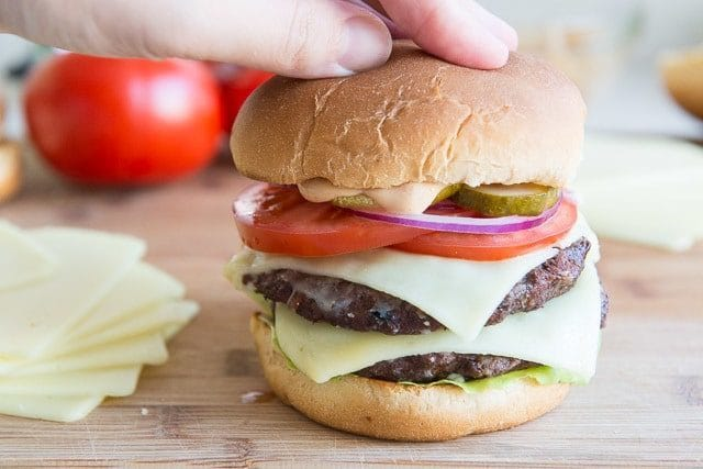 Double Decker Burger Recipe with Cheese