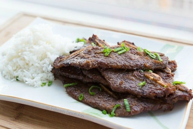 Korean Barbeque - Kalbi Short Ribs marinated in soy sauce, asian pear, sesame oil