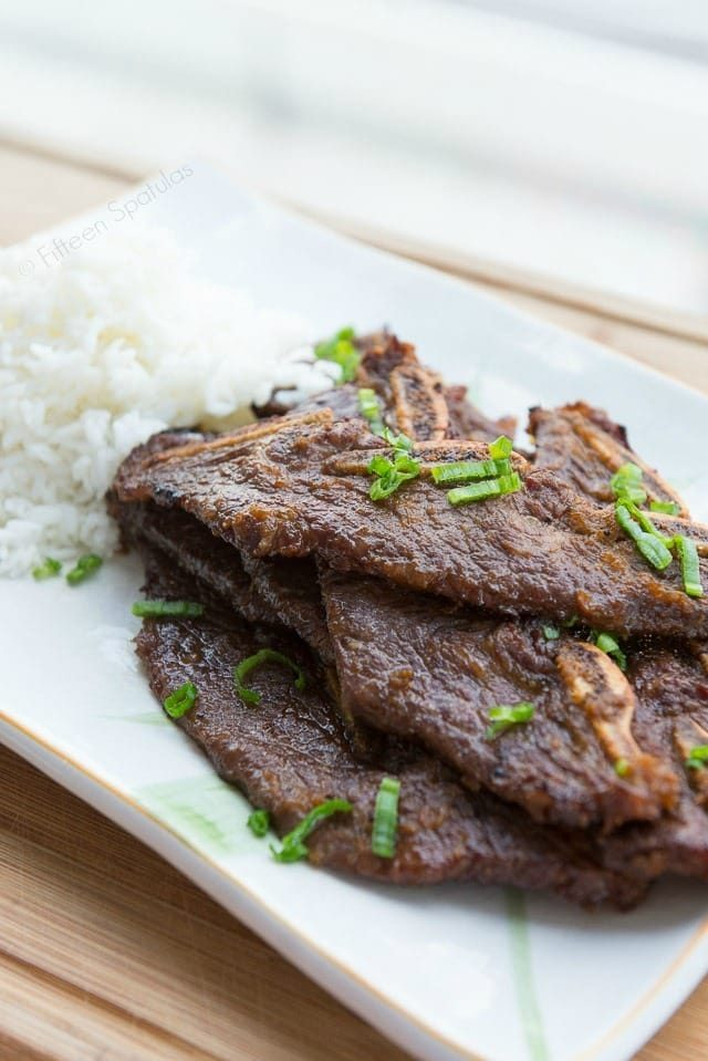 Korean Kalbi Short Ribs - An easy and delicious dinner recipe, perfect for the grill!