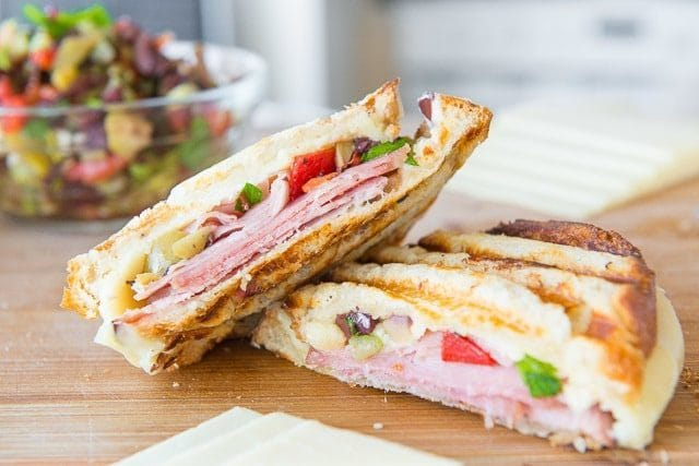 Grilled Muffuletta Panini Recipe
