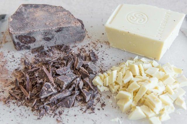 White & Dark Chocolate for Chocolate Chunk Cookies