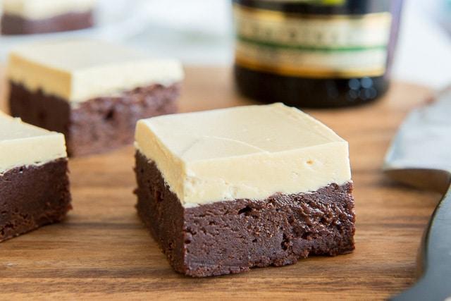 Irish Cream Brownies with Caramelized White Chocolate Buttercream