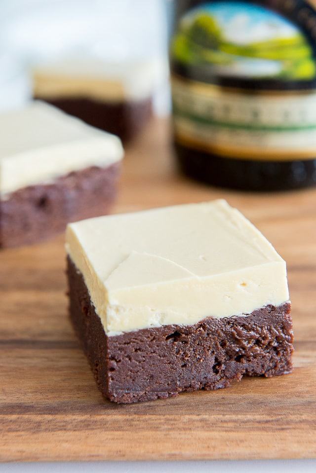 Irish Cream Brownies Recipe with Caramelized White Chocolate Buttercream Frosting
