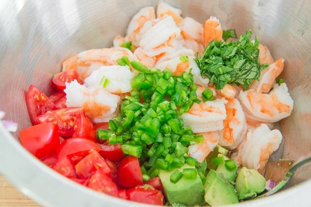 Zesty Lime Shrimp and Avocado Salad Ingredients