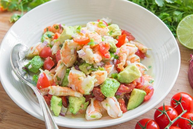 Quick and Easy Zesty Lime Shrimp and Avocado Salad