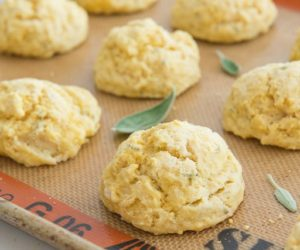 Pumpkin Sage Drop Biscuits from The Gourmet Kitchen