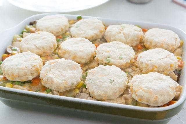Cheddar Biscuit BBQ Chicken Pie
