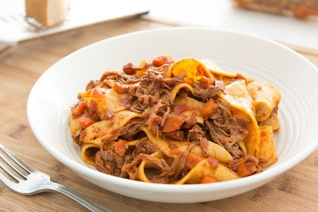 Slow Cooker Beef Ragu with Pappardelle: An easy big-batch recipe to make for dinner!
