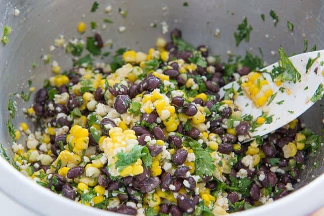 Mexican Street Corn Salad Recipe with Black Beans