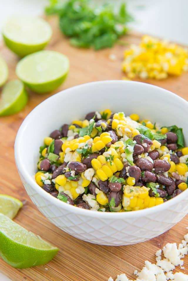 Mexican Street Corn and Black Bean Salad - Perfect for summer picnics and potlucks!