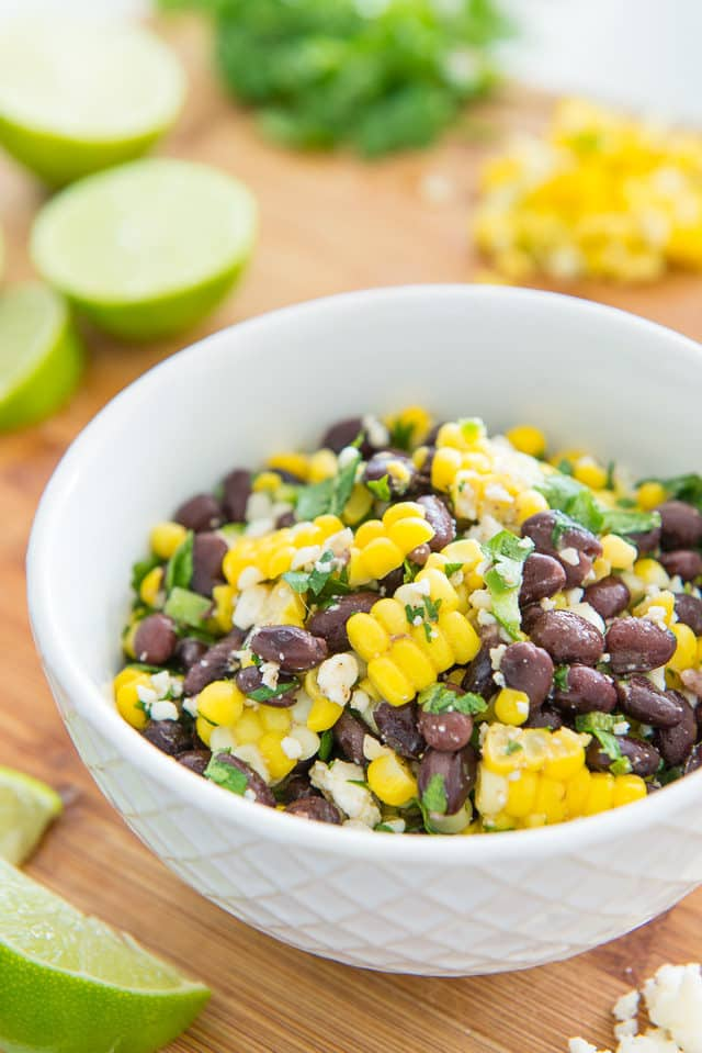 Make-ahead Mexican Street Corn Salad with Black Beans
