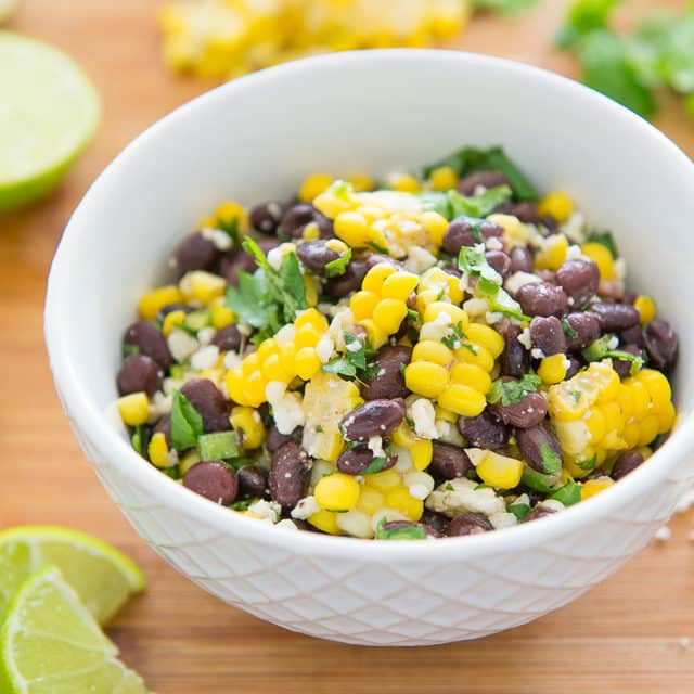 Fresh summer corn on the cob is perfect for Mexican Street Corn Salad