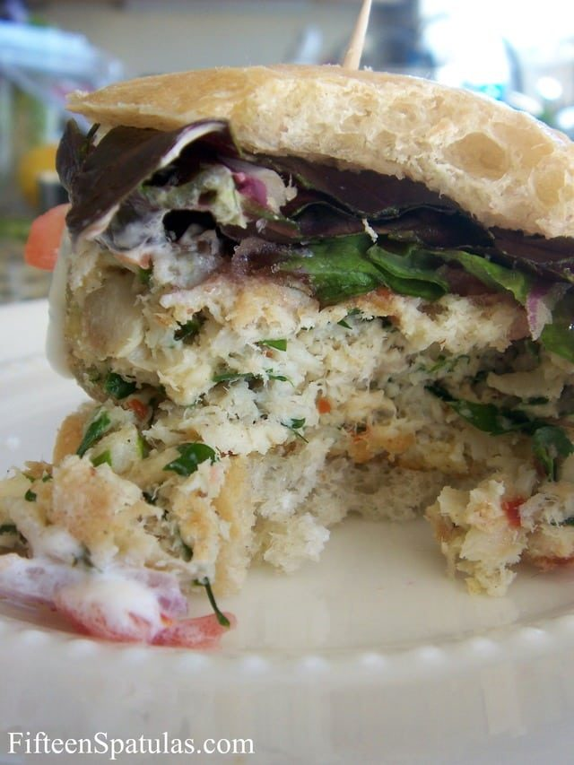 Flounder Burgers with Greens