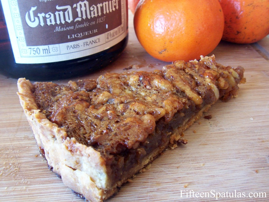 Walnut Tart Slice with Butter Pie Crust