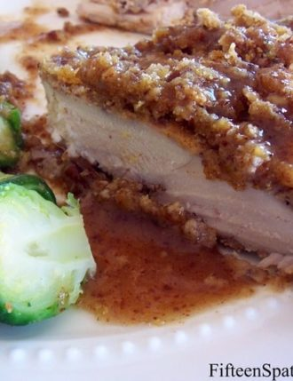 Pecan and Cornmeal Crusted Chicken with Honey Mustard Sauce