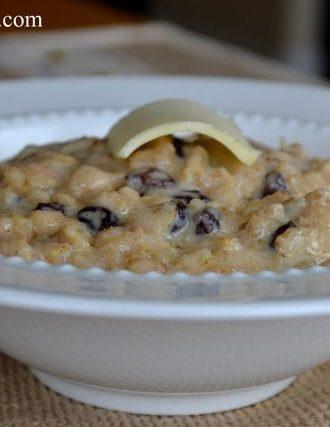 Blackcurrant and Cream Oatmeal