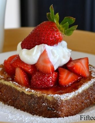 Brioche French Toast with Blood Orange Macerated Strawberries