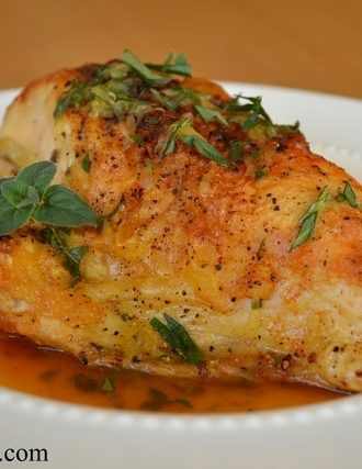 Crispy Skinned Chicken Breast with Herb Sauce